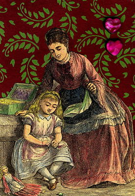 Sewing Mixed Media - Victorian Mother 's Day by Marcia Masino