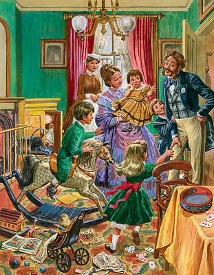 Painting - Victorian Nursery by Peter Jackson