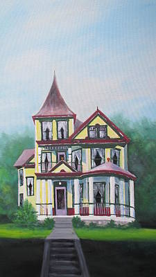 Painting - Victorian Painted Lady  by Denise   Hoff