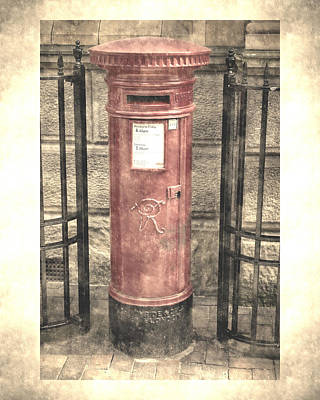 Photograph - Victorian Red Post Box by Anthony Murphy