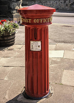 Mail Box Photograph - Victorian Red Postbox by Georgia Fowler