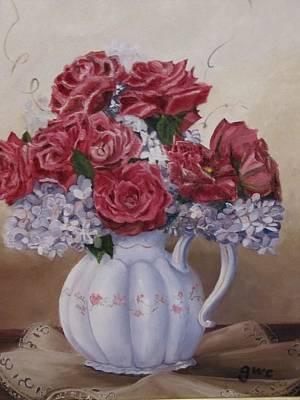 Victorian Rose Art Print by Gloria Condon