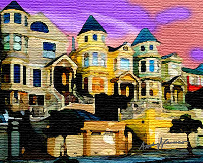 Cityscenes Painting - Victorian Row by Anthony Caruso