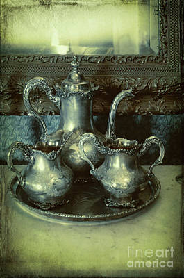Photograph - Victorian Silver Tea Service by Jill Battaglia