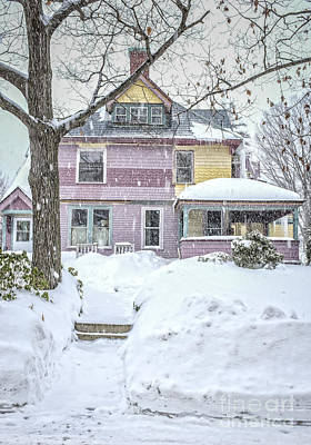 Painted Lady Photograph - Victorian Snowstorm by Edward Fielding