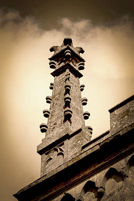 Photograph - Victorian Spirelet Tower B In Sepia Tone by Jacek Wojnarowski