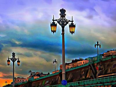 Photograph - Victorian Street Lights On Brighton Seafront by Dorothy Berry-Lound