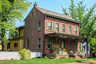 Photograph - Victorian Style Brick House by Sandy Moulder