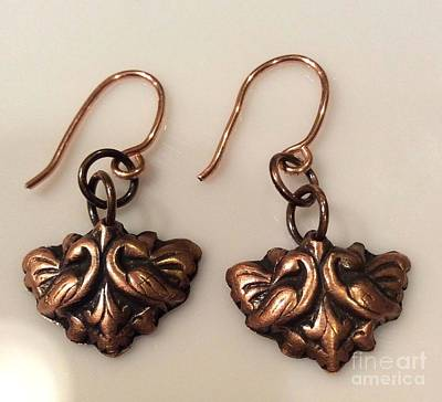 Victorian Style Copper Earrings Original
