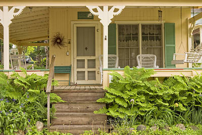 Up Up And Away - Victorian Style Cottage Porch Northport Maine by Keith Webber Jr