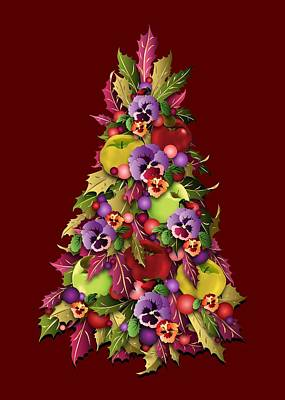 Digital Art - Victorian Style Holiday Tree by MM Anderson
