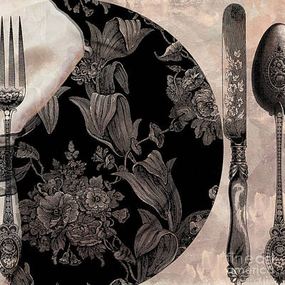 Dine Painting - Victorian Table by Mindy Sommers