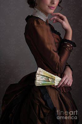 Photograph - Victorian Woman In A Brown Dress  by Lee Avison