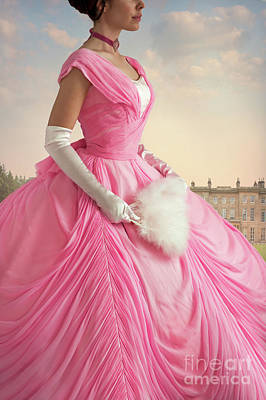 Photograph - Victorian Woman In A Romantic Pink Ball Gown by Lee Avison