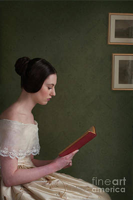Photograph - Victorian Woman Reading A Book by Lee Avison