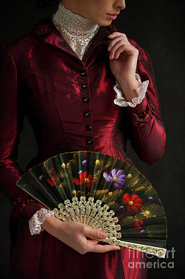 Photograph - Victorian Woman With Fan by Lee Avison