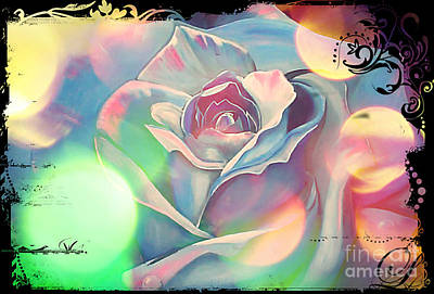 Painting - Victoria's Abstract Rose by Kim Chambers