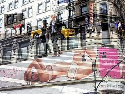 Photograph - Victoria's Secret Double Exposure by John Rizzuto