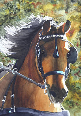 Morgan Horse Painting - Victorious by Ally Benbrook
