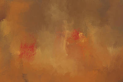 Simple Abstract Art Painting - Victory Autumn Abstract Painting by Jai Johnson