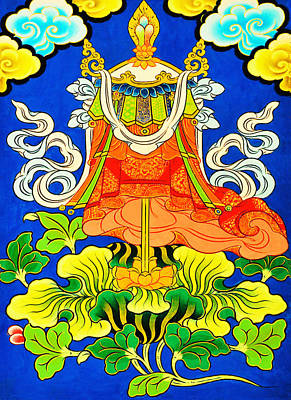 Vajrayana Painting - Victory Banner by Lanjee Chee