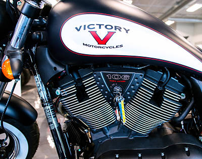 Photograph - Victory Bike Red by Rospotte Photography