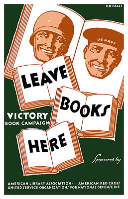 Us Flag Mixed Media - Victory Book Campaign - Wpa by War Is Hell Store