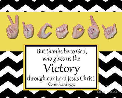 Victory - Bw Graphic Art Print