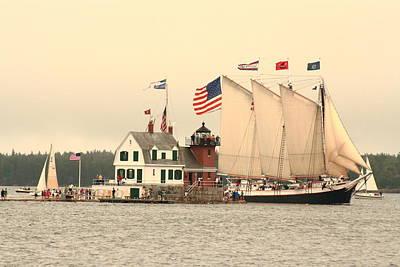 Victory Chimes Entering Rockland Harbor Original by Doug Mills