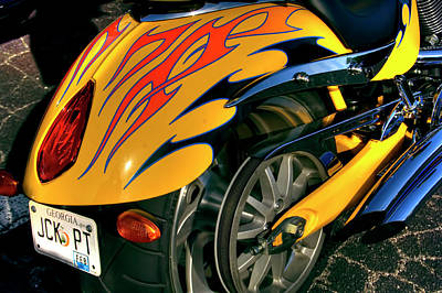 Corky Willis And Associates Atlanta Photograph - Victory Fender Flames by Corky Willis Atlanta Photography