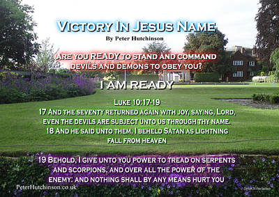 Photograph - Victory In Jesus Name by Bible Verse Pictures