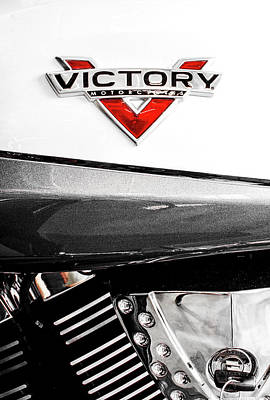 Photograph - Victory Motorcycle Red White 8916 by Rospotte Photography