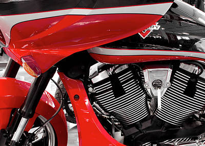 Photograph - Victory Red Select 8916 by Rospotte Photography