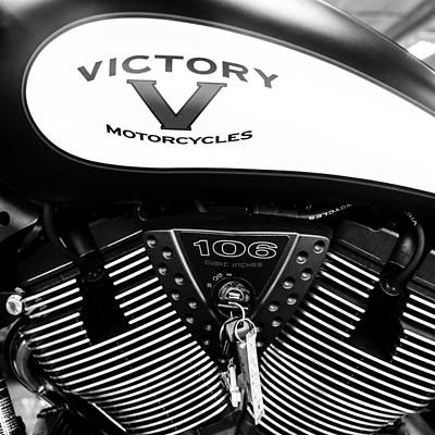 Photograph - Victory Red Sq Bw by Rospotte Photography