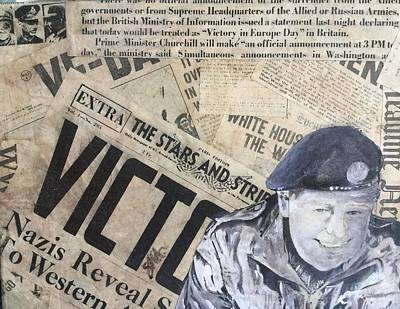Soldiers Mixed Media - Victory by Sarah Mangione-Avon
