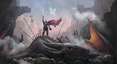 Digital Art - Victory by Steve Goad