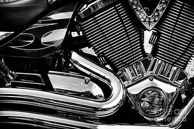 Photograph - Victory V Twin Abstract by Tim Gainey