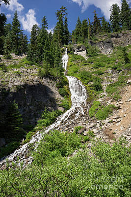 Photograph - Vidae Falls Crater Lake Klamath County Oregon Dsc5172 by Wingsdomain Art and Photography