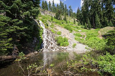 Photograph - Vidae Falls Crater Lake Klamath County Oregon Dsc5179 by Wingsdomain Art and Photography