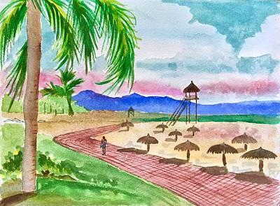 Painting - Vidanta Resort Beach by Renee Marie Martinez