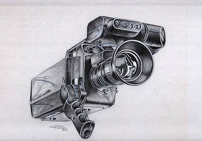 Painting - Video Camera, Vintage by Dale Turner