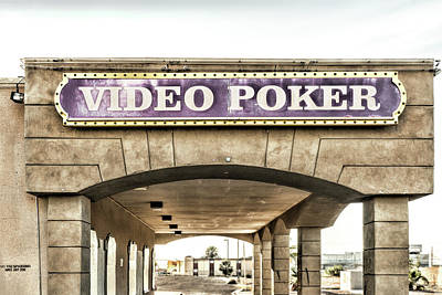 Photograph - Video Poker by Sharon Popek