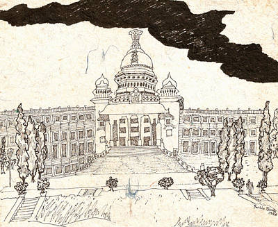 Vidhana Soudha Art Print by Umesh U V
