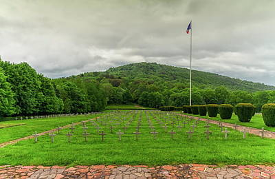 Photograph - Vieil Armand Or Hartmannsweiler Kopf Cemetery, Vosges Mountains, by Elenarts - Elena Duvernay photo