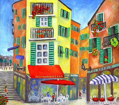 Cafe Painting - Vieille Ville - Nice by Ronald Haber