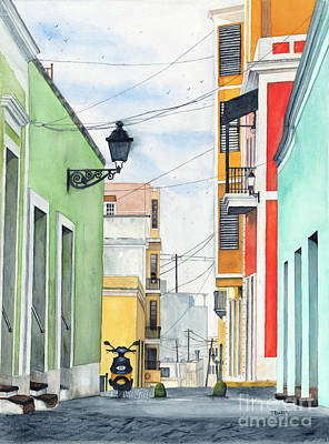 Old San Juan Painting - Viejo San Juan by Tom Dorsz