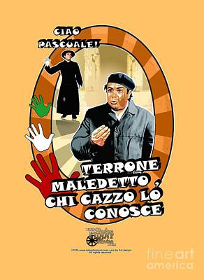 Lino Digital Art - Vieni Avanti Cretino by Italian Funny Movies