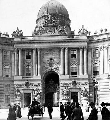 Crowd Scene Photograph - Vienna Austria - Imperial Palace - C 1902 by International  Images