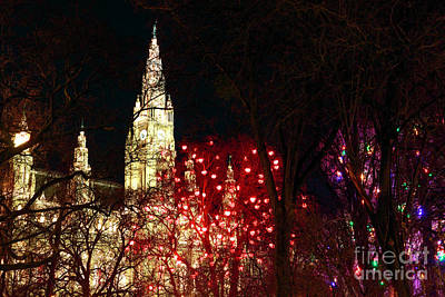 Photograph - Vienna Christkindlmarkt Lights by John Rizzuto