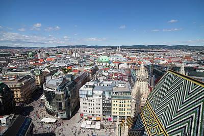 Photograph - Vienna City Cityscape Above Stephansplatz by Artur Bogacki